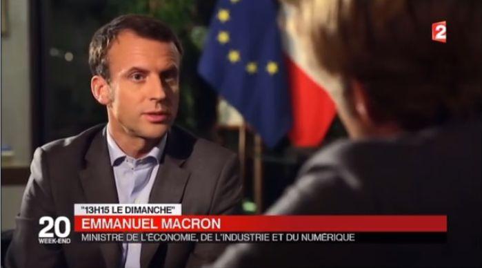 """Travail indépendant. """"Il y a des femmes et des hommes qui ne veulent plus le salariat"""" : vidéo avec Emmanuel Macron, 2015."""